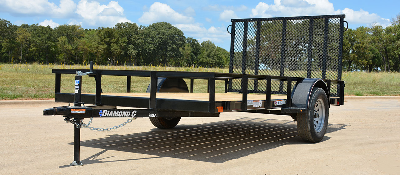Diamond C GSA Single Axle Utility Trailer