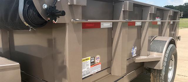Model EDS dump trailer with taller sides