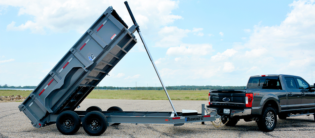 Diamond C LPT Telescopic Cylinder Dump Trailer