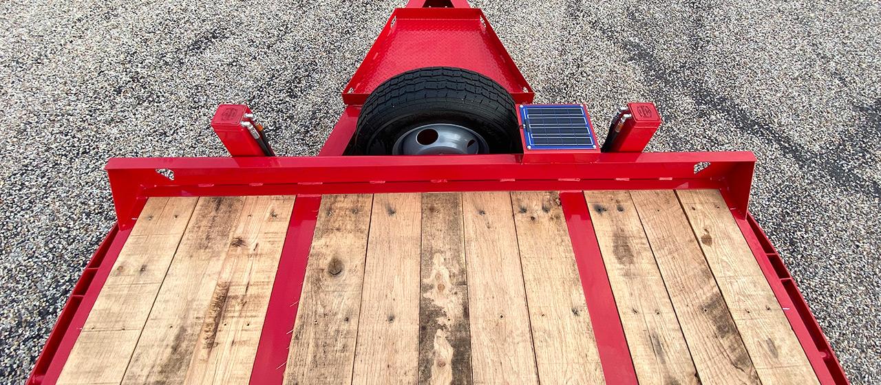 Model PX210 pintle hitch trailer with Oak floor