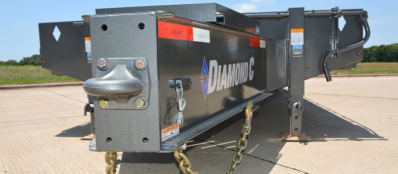 Model PX212 pintle hitch equipment trailer with 60K pintle hook