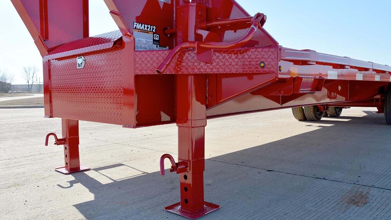 2 - 25,000 lb Two Speed Drop-Leg Jacks