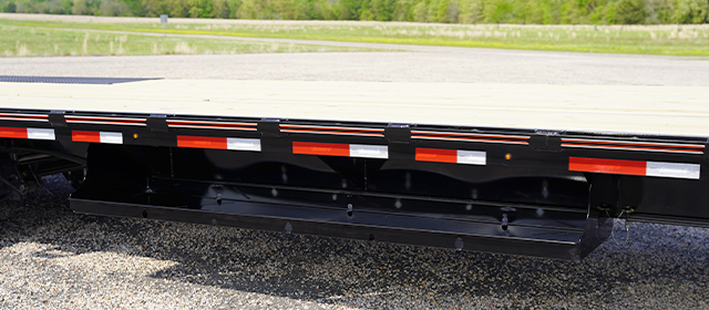 Model SDX step deck trailer with 102