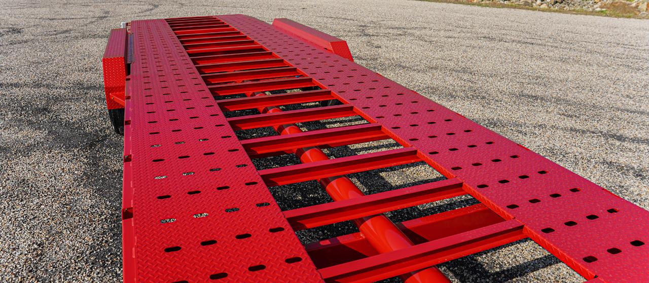 """Model MVC car hauler trailer with 1/8"""" Diamond Laser Grip Full Floor"""