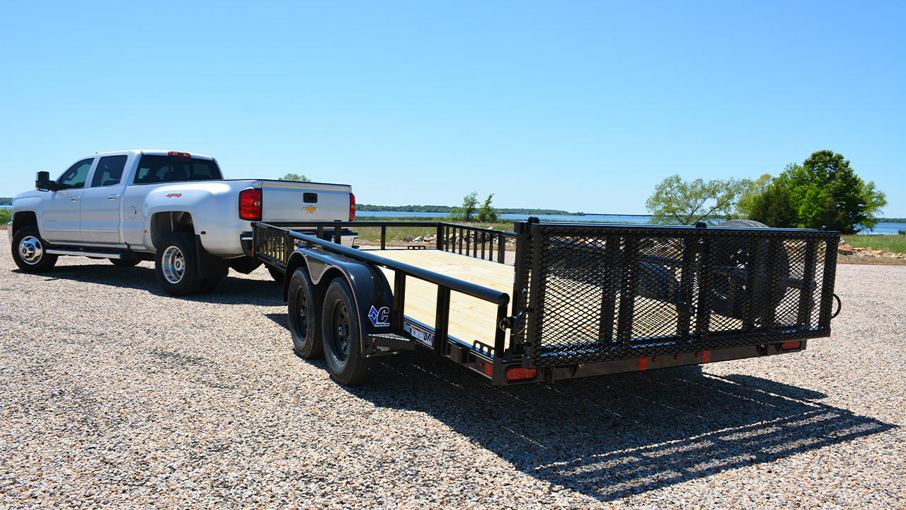 Model GTU Utility Trailer Bi-Fold Ramp Gate