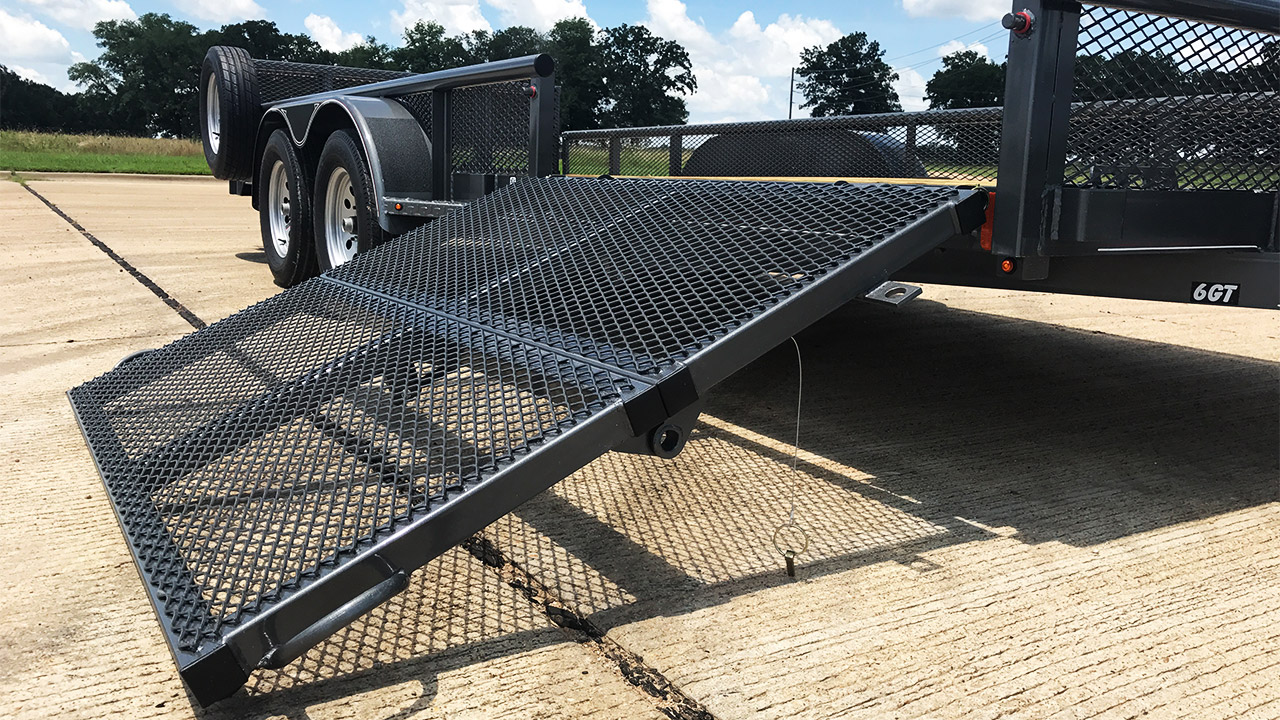 Model GTU Utility Trailer Side Load Bi-Fold Ramp Gate