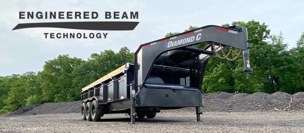 Model LPD Dump Trailer Gooseneck Package with Engineered Beam Technlogy