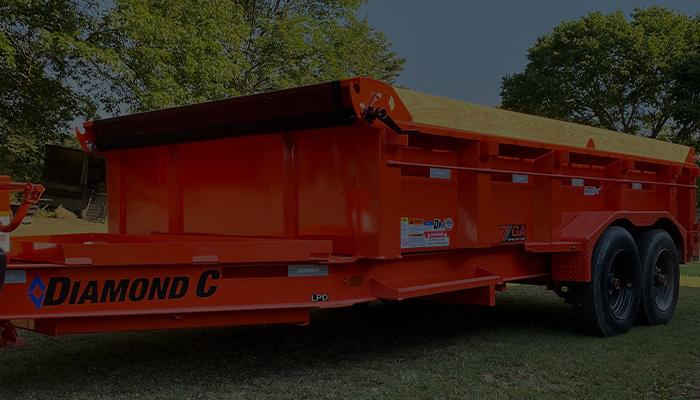 Low Profile Dump Trailer model LPD
