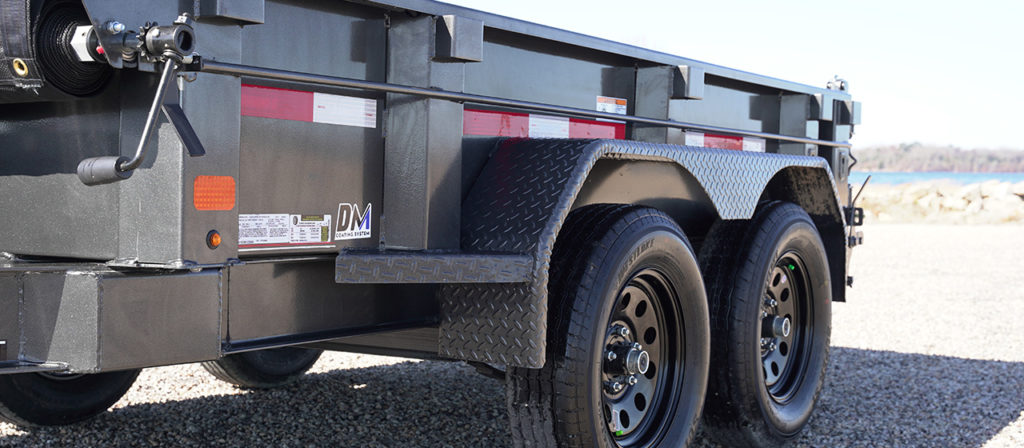 Model GDT dump trailer with 12 ga body and sides