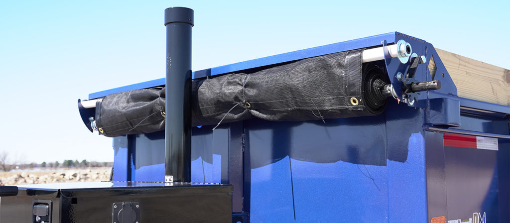 Model GST dump trailer with tarp
