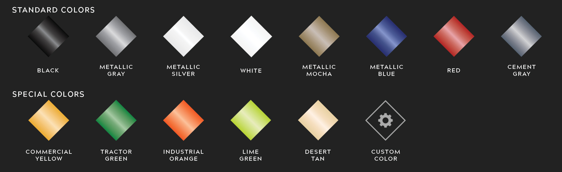 Trailer Paint Swatches