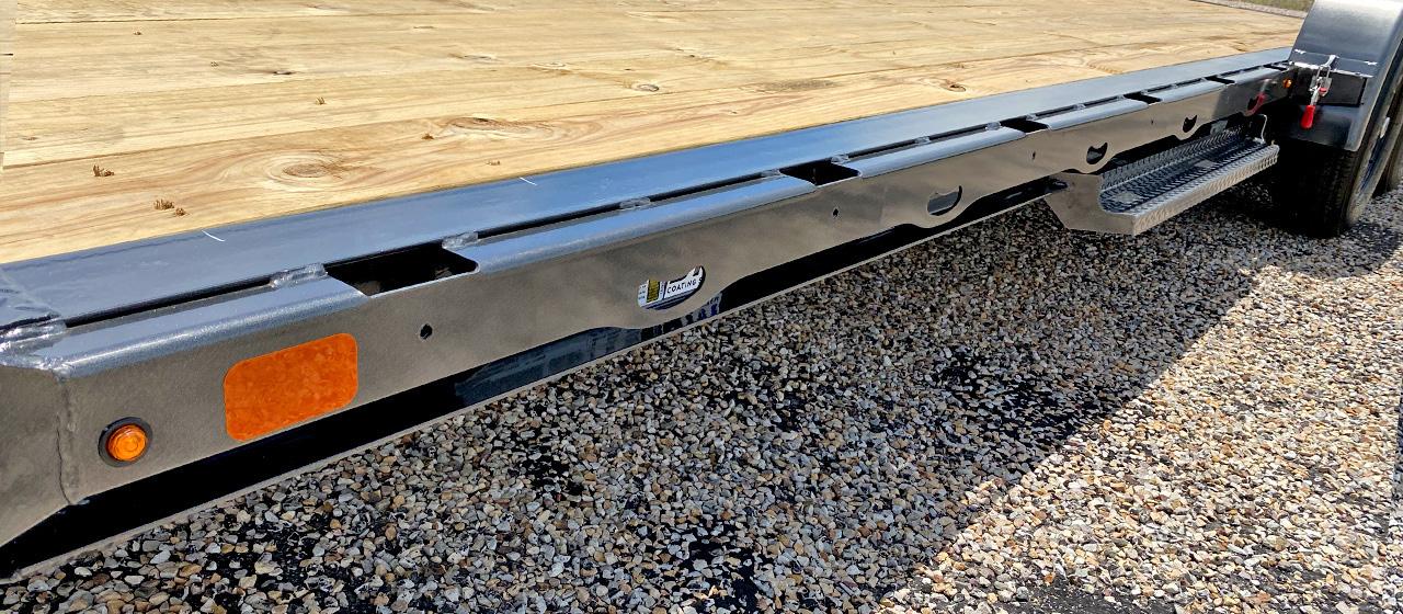 Model GTF car hauler with formed rub rail tie down system